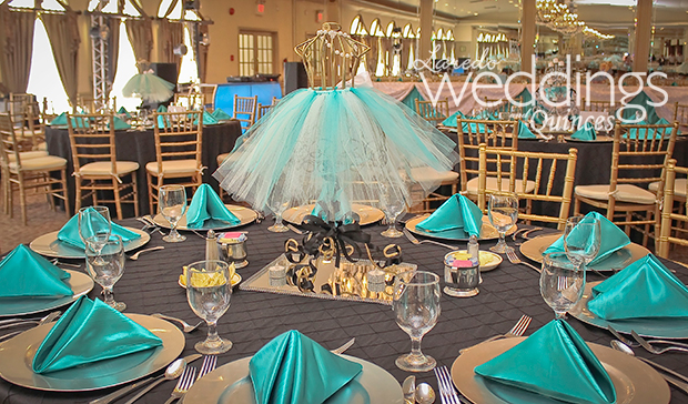tiffany themed quince � laredo weddings and quinces